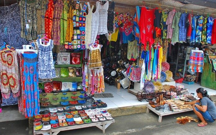 an analysis of the shopping in bali in a traditional way